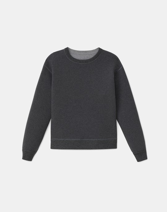 Remy Reversible Pullover In Mélange Tech Bonded Jersey