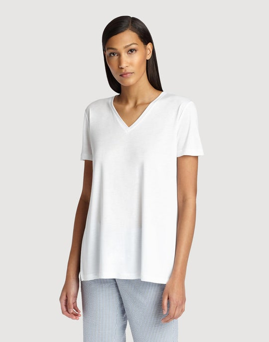 Featherweight Jersey V-Neck Tee