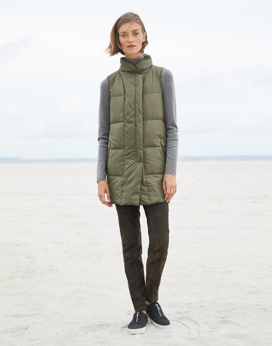 Adora Down Vest and Suede Brooklyn Pant