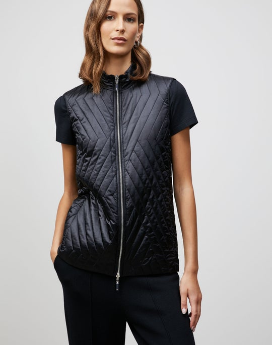 Petite Satin Tech Reversible Bellamy Vest