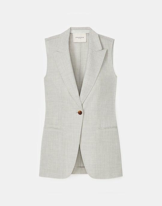 Alton Vest In Italian Tropical Weave