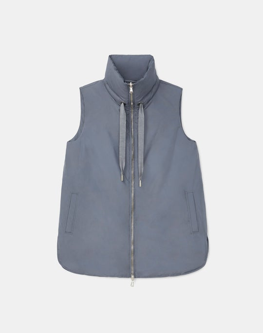 Dylan Reversible Down Vest In KindMade Feather Tech