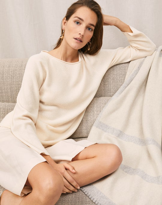 Bateau Neck Sweater and Ryerson Short