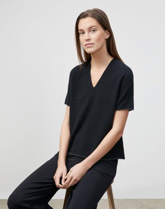 KindCashmere Raglan Sleeve V-Neck Sweater