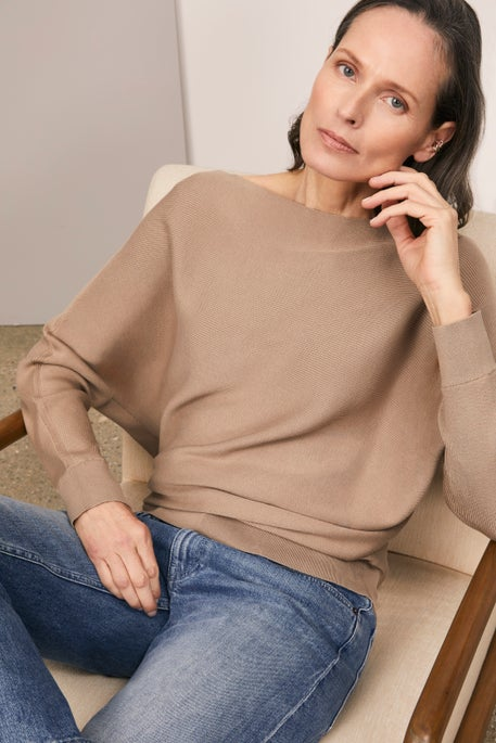 Asymmetric Sweater and Cropped Wyckoff Jean