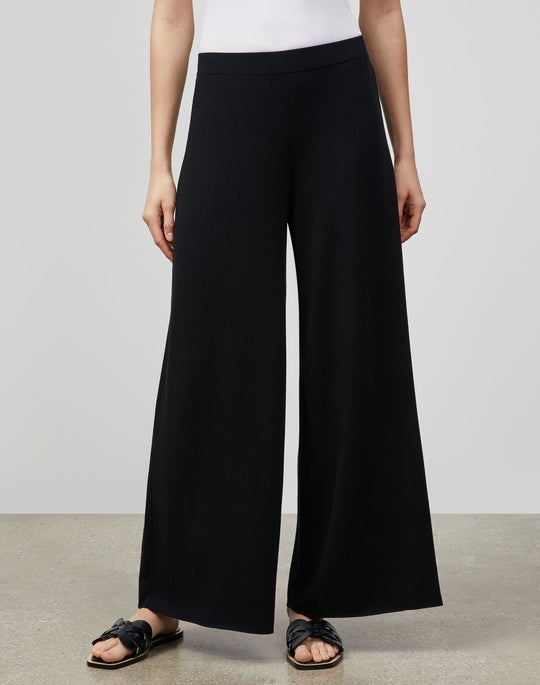 Cotton Crepe Double Knit Pull-On Pant