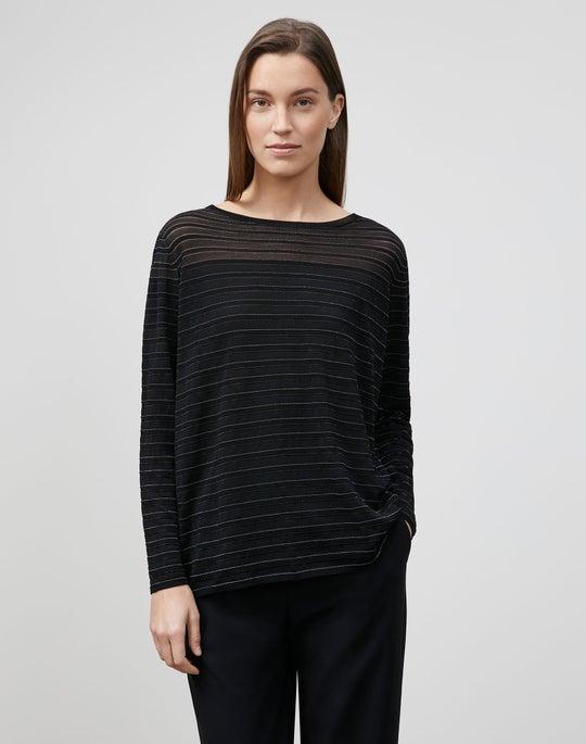 Finespun Voile Striped Pullover
