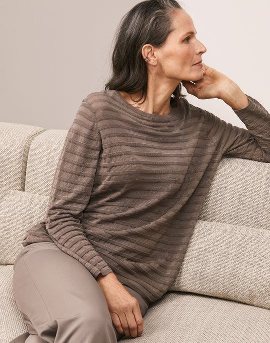 Sheer Striped Pullover and Riverside Pant