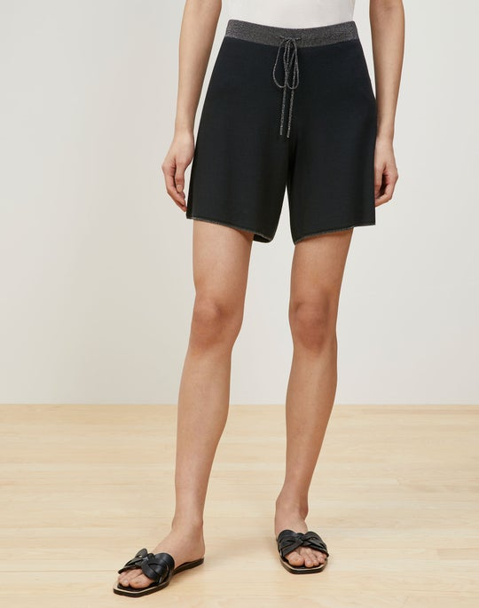 Matte Crepe Knit Pull-On Short