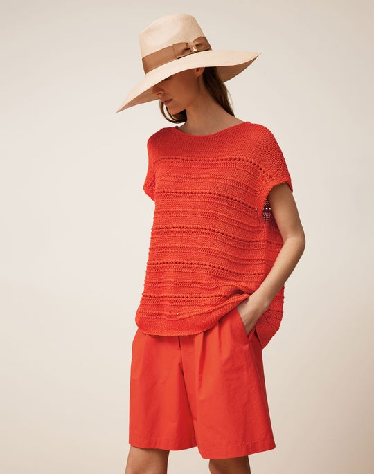 Bateau Neck Pullover and Leroy Short