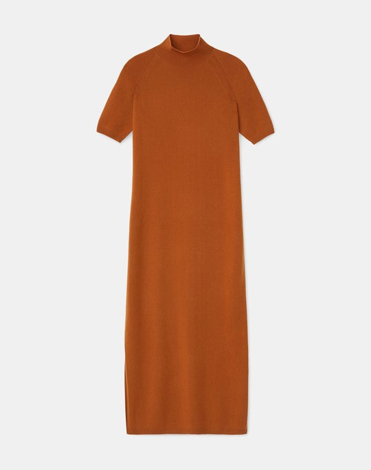 KindCashmere Stand Collar Raglan Sleeve Dress