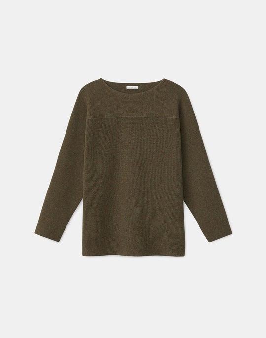 KindCashmere Mixed Rib Dolman Sweater