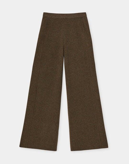 KindCashmere Mixed Rib Pull-On Pant