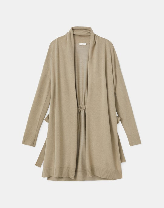 Plus-Size Cashmerino Open Front Cardigan