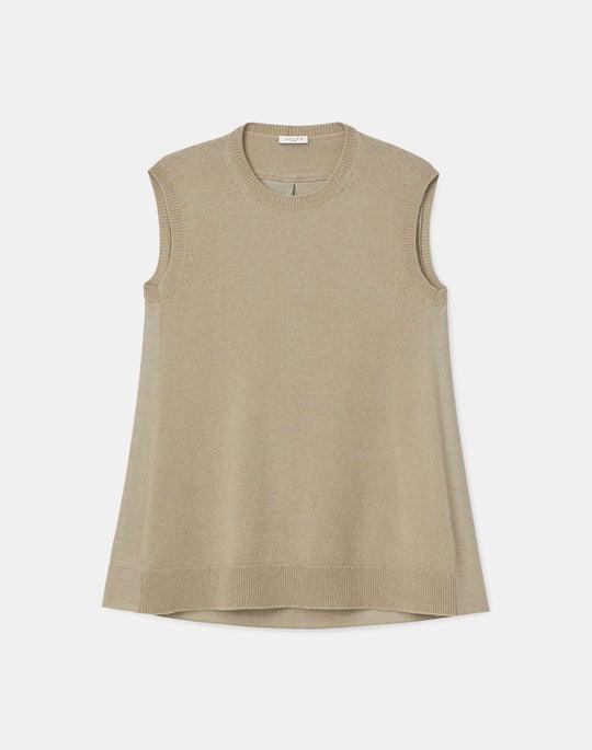 Plus-Size Cashmerino Sleeveless Crewneck Sweater