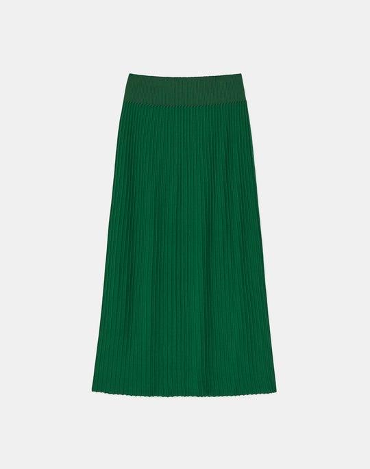 Petite Matte Crepe Rib Knit Pull-On Skirt