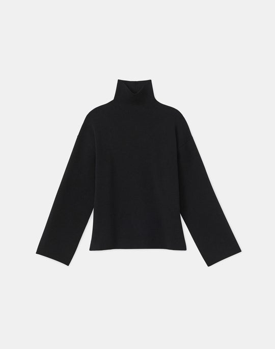 KindCashmere Double Knit Stand Collar Sweater