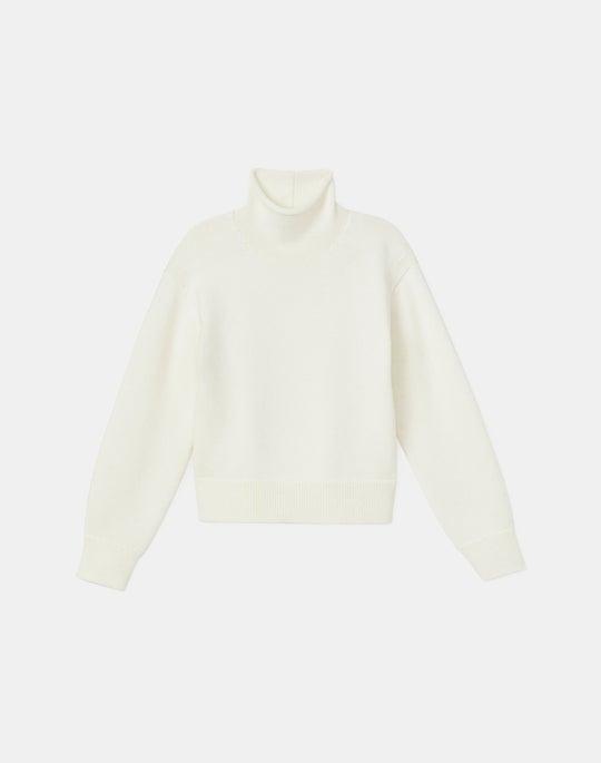 Petite Italian KindWool Round Sleeve Turtleneck Sweater