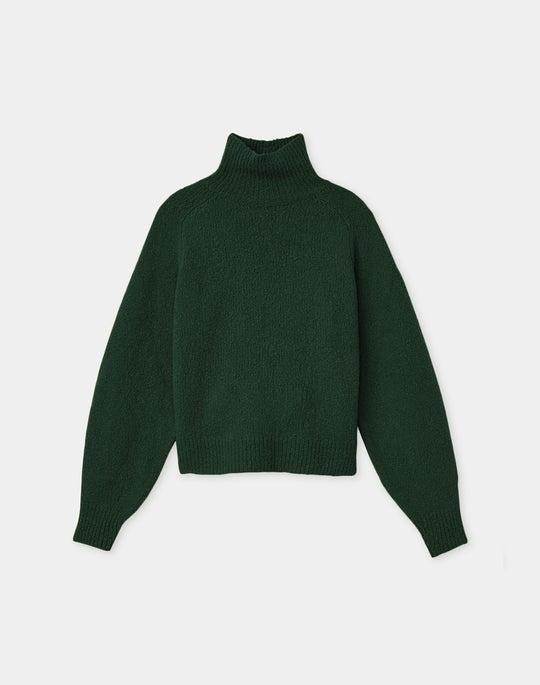 Italian Cashmere Boucle Turtleneck Sweater