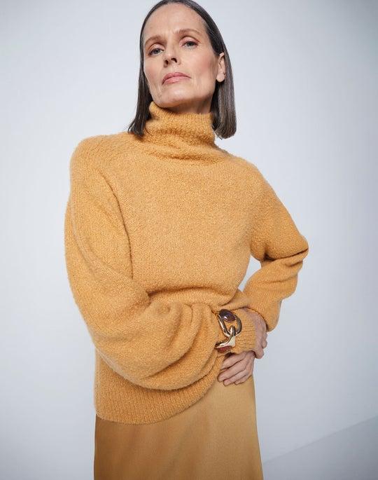 Stand Collar Sweater and Nelya Skirt