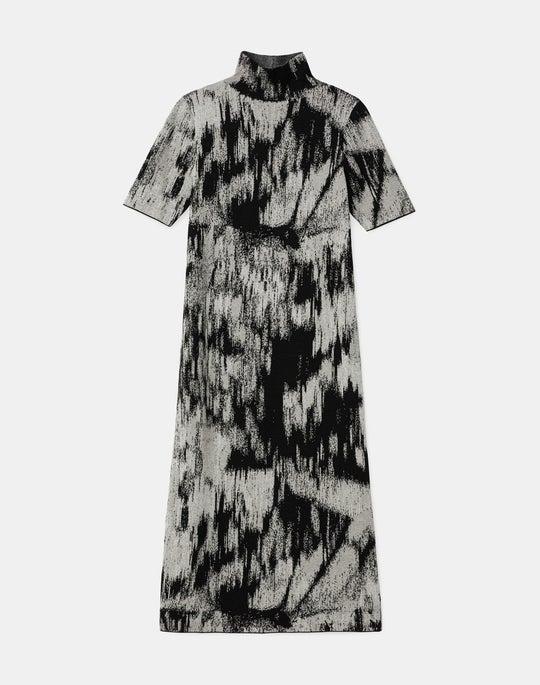 KindCashmere-Silk Jacquard Sweater Dress
