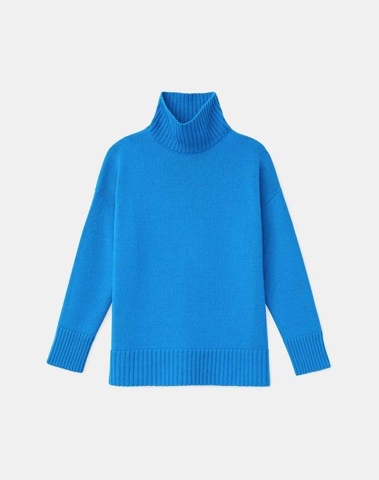 KindCashmere Drop Sleeve Turtleneck Sweater