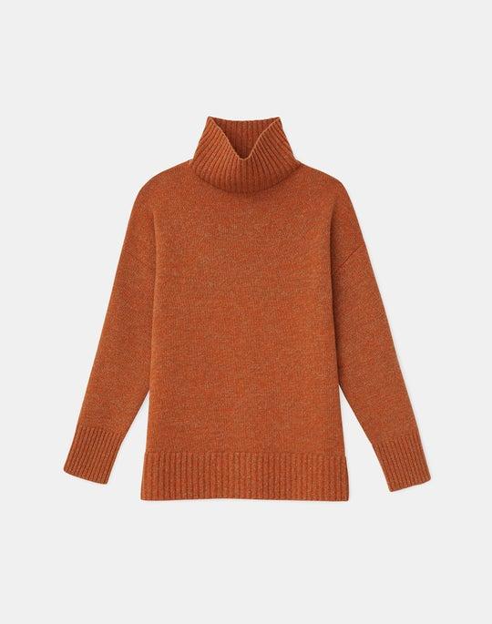 KindCashmere Mouliné Stand Collar Sweater