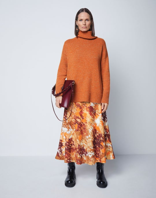 Stand Collar Sweater and Sumner Skirt