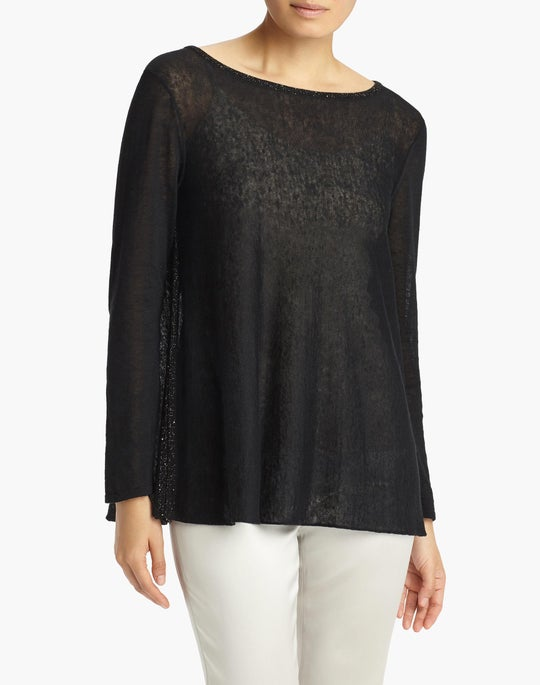 Wispy Linen Bateau Neck Sweater