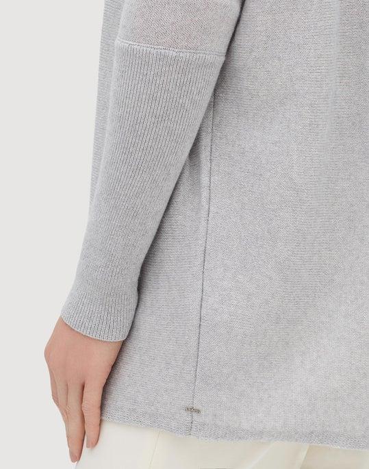 Cotton Cashmere Silk Oversized Tunic Sweater