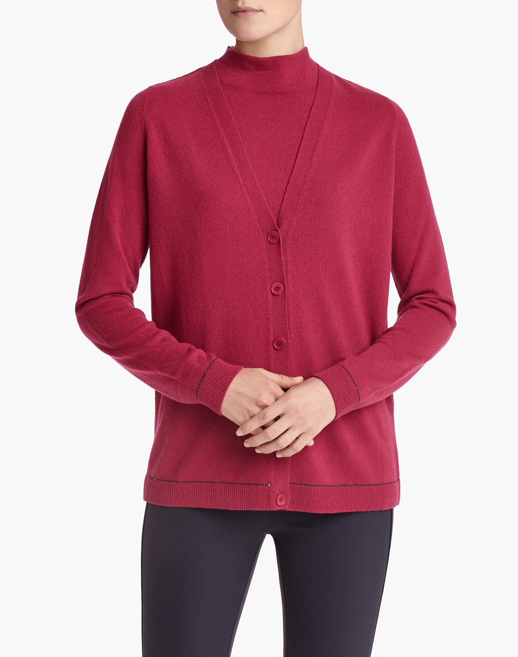 Plus-Size Cashmere Sequin Trim Cardigan | Lafayette 148 New York