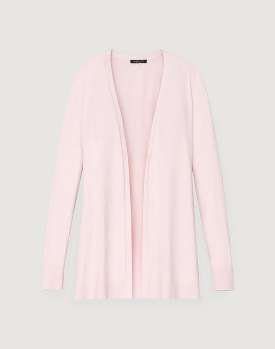 Plus-Size Matte Crepe Open Cardigan