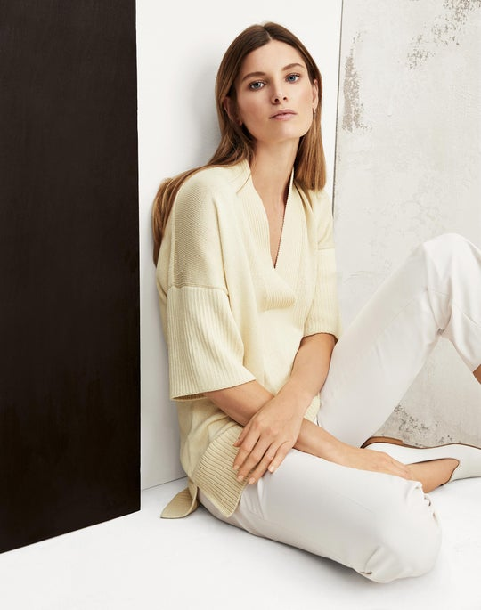 Relaxed V-Neck Sweater and Lexington Pant