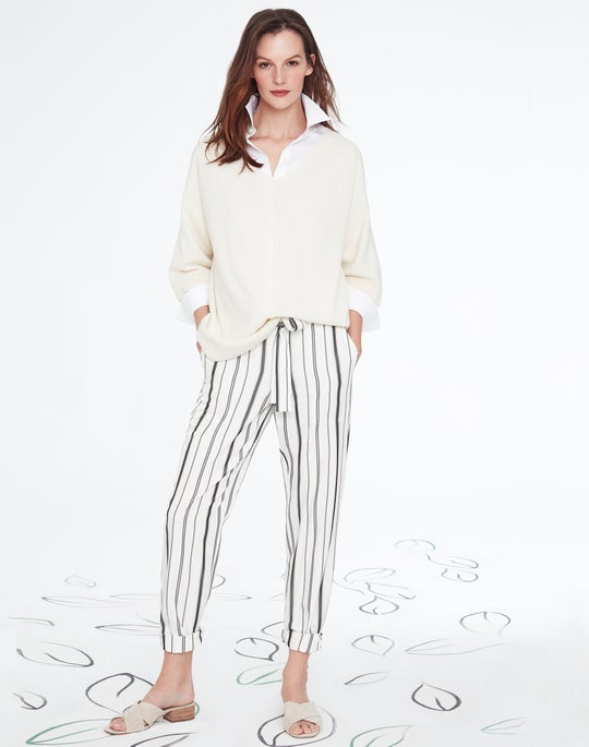 Wide V-Neck Sweater and Fulton Pant