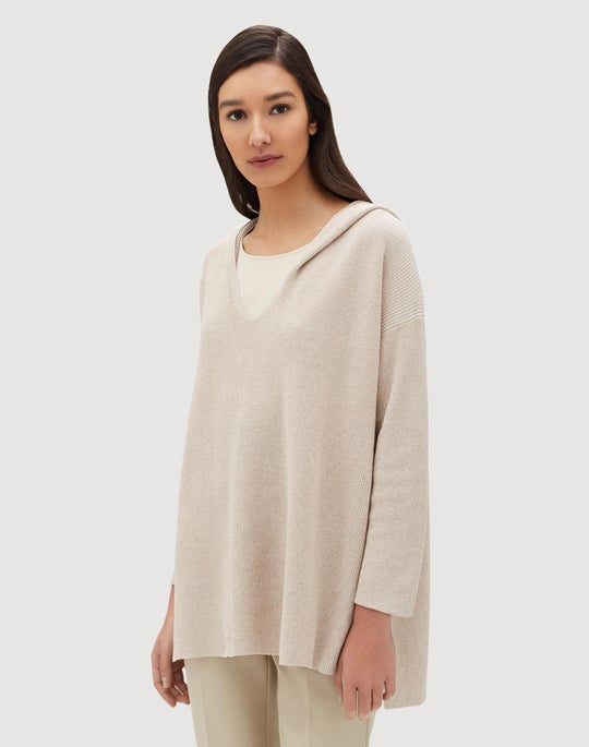 Sequin Mouline Shimmer Rib Hoodie