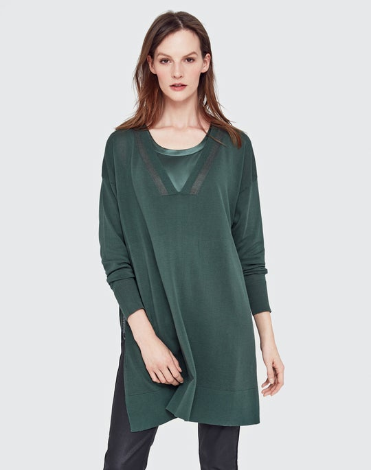 Open-Sided Knit Tunic and Perla Blouse