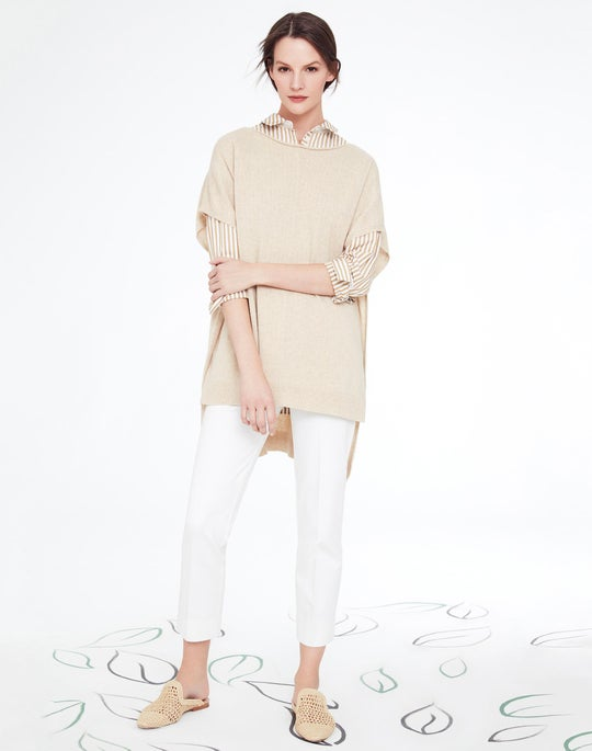 Cashmere Dropped Hem Sweater