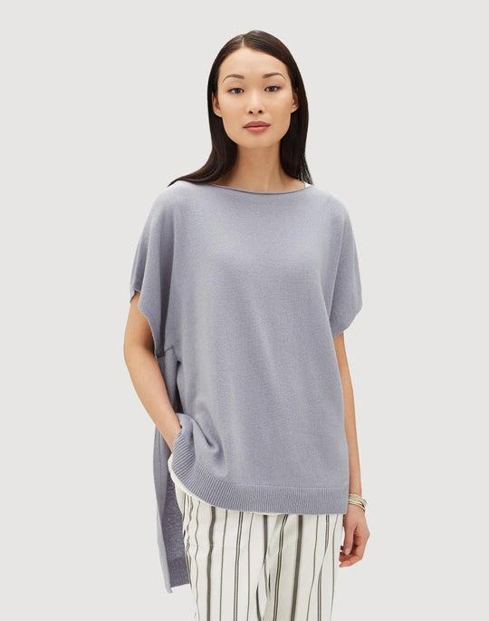Cashmere Dropped Hem Sweater