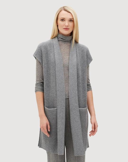 Plus-Size Cashmere Relaxed Vest