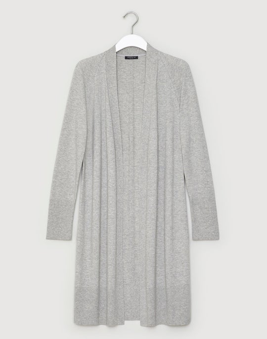 Luxurious Cashmere Silk Open Front Cardigan