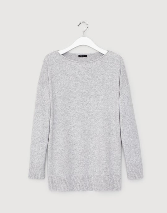 Plus-Size Cashmere Relaxed Pullover
