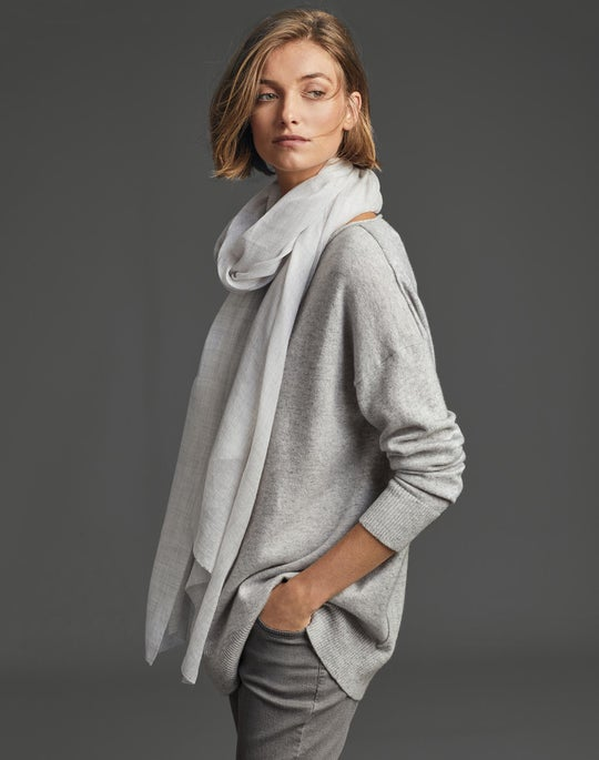 Relaxed Pullover Sweater and Thompson Jean