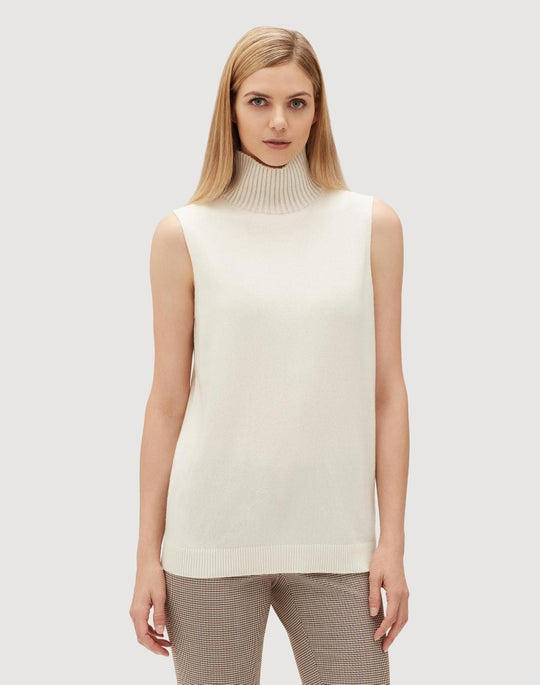 Cashmere Vanisé Sleeveless Sweater