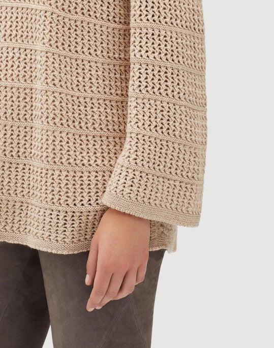 Petite Cashmere Open Stitch V-Neck Sweater