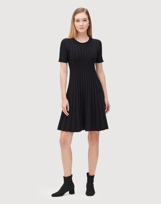Metropolitan Shine Structured Rib Dress