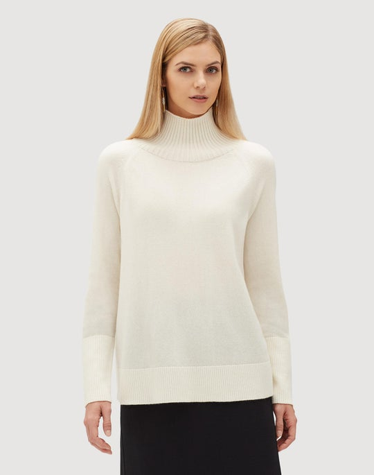 Plus-Size Cashmere Side Zip Sweater