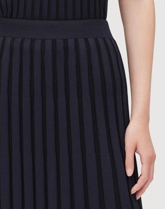 Metropolitan Shine Plaited Rib Skirt