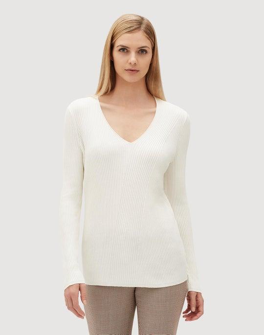 Metropolitan Shine Diagonal Rib Sweater