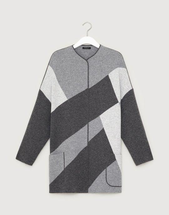 Cashmere Colorblock Cardigan Jacket
