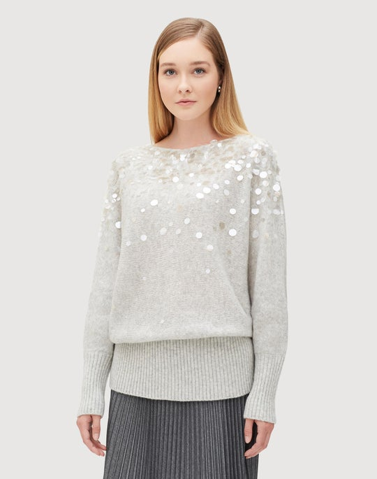 Brushed Cashmere Silk Dolman Sweater